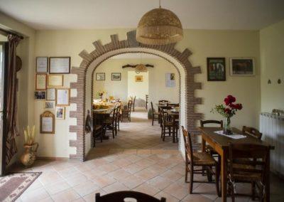 Sala ristorante tipico in agriturismo a Gubbio